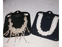 Gorgeous Zara chokers/necklaces. As new. £10 each or £15 for both