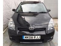 2008 Toyota Corolla Verso 2.2 D-4D T Spirit 180 Diesel 5dr/7SEATER,TV SCREEN/NAVIGATION/SERV HISTRY