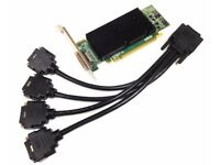Matrox M9140 - E512LAF PCIe X16 512MB Graphic Card + Matrox 4 Way DVI Splitter