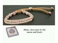 Equilibrium Rose Gold Plated Mum Bracelet