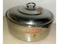Stainless Steel Round Chappati/Pori Canister Can be used as kitchen storage.