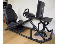 FREE ... Custom Video Gaming (Driving) Chair with leather seat ## @@ FREE @@ ## ... !!!