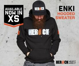 HEROCK ENKI WORK HOODED WORK JACKET BLACK ALL BRAND NEW STOCK ALL SIZES TO CLEAR STOCK
