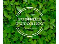 Summer Tutoring - Sciences and French