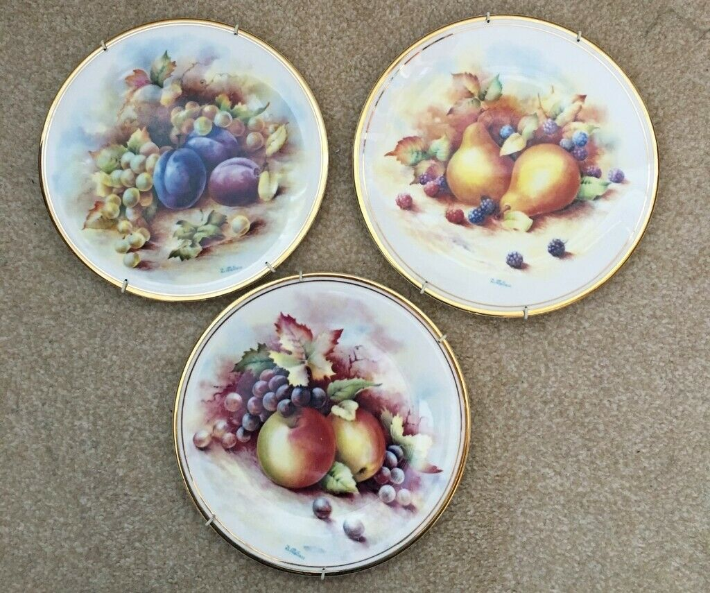 Set Of 3 Fruit Wall Hanging Plates Decorative Plates In Redditch