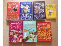 Large David Walliams Kids Book Bundle x 7 Gangsta Granny Demon Dentist Hardback