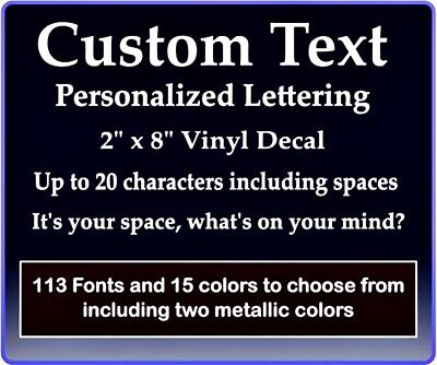 Custom Text Vinyl Decal Personalized Lettering Window Laptop Yeti Cup Sticker