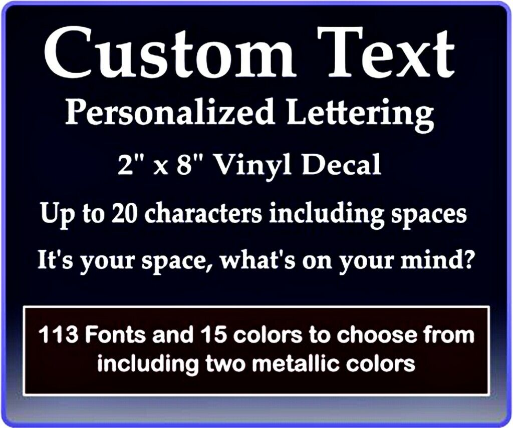 Home Decoration - Custom Text Vinyl Decal Personalized Lettering Window Laptop Yeti Cup Sticker
