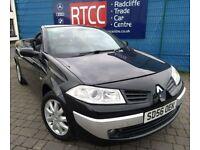 2006 Renault Megane 1.6 VVT 2dr Convertible, 3 MONTHS WARRANTY, Timing belt changed, FSH £1,395 ONO