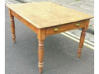 Victorian pine scullery table