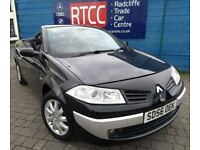 2006 Renault Megane 1.6 VVT 2dr Convertible, 3 MONTHS WARRANTY, Timing belt changed, FSH £1,395 ONO