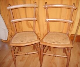 Pair of Edwardian Chairs Bedroom/Kitchen