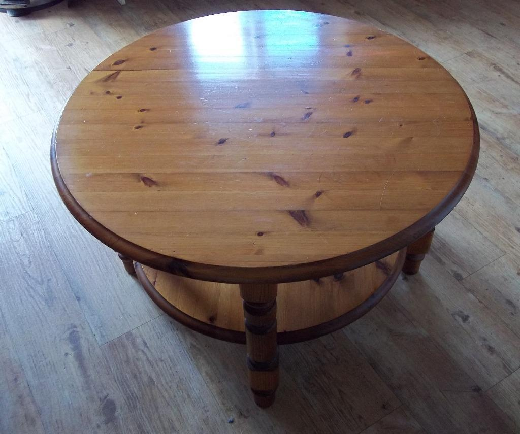 Solid Pine Round Coffee Table In Portishead Bristol Gumtree