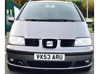 2003 (NOV03) SEAT ALHAMBRA 1.9 TDI - 7 SEATS - DIESEL - SERVICE HISTORY - MANUAL - PX WELCOME