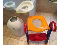 Set of toddler toilet training items for sale