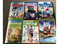 6 x kids DVDs