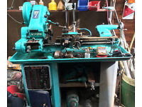 MYFORD SUPER 7 LATHE WITH MYFORD STAND AND COVER INCLUDING VARIOUS ACCESSORIES + OTHER MACHINE TOOLS