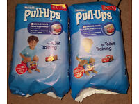 2x Packs of Huggies Boys Pullups Size Large