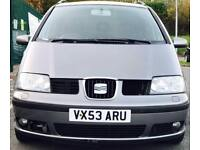 2003 (NOV03) SEAT ALHAMBRA 1.9 TDI - 7 SEATS - DIESEL - SERVICE HISTORY - DELIVERY - PX WELCOME