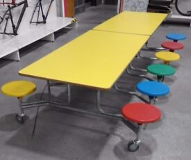 Foldable Lunch Tables 12 Seater. Catering /School / Furniture - 2 Available