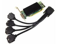 Matrox M9140 - E512LAF PCIe X16 512MB Graphic Card + Matrox 4 Way DVI Splitter