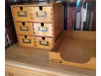 Ikea moppe mini drawers organiser and in tray / letter tray
