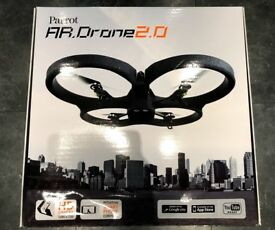 AR Drone 2.0 complete with three spare batteries.
