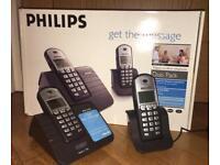 Philips Landline Phone Set - DEC 311 Duo Phone Ebony