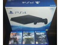 PS4 500GB and 3 games