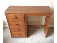 Solid Wood Desk with Four Drawers
