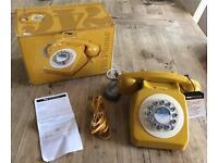 **BNIB** WILD & WOLF 746 Phone, 1960's Design Classic, English Mustard