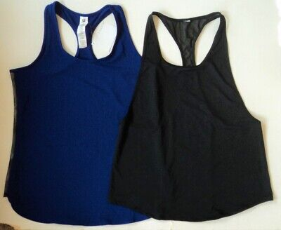 DANCE Workout Outfit FABLETICS 2 Tank Tops  BLACK & PURPLE *NEW* FLASH SALE