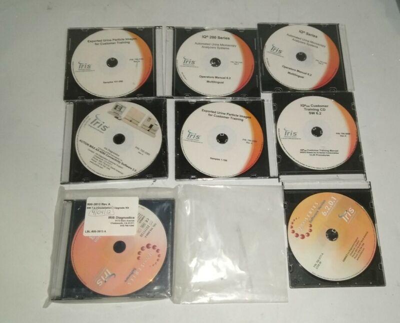 Lot of Assorted Iris Diagnostics Software, Manuals, & Racks