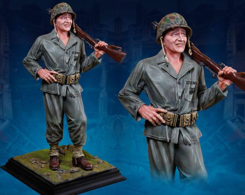 COLLECTORS SHOWCASE WW2 AMERICAN CS60009 JOHN WAYNE SANDS OF IWO JIMA STATUE MIB