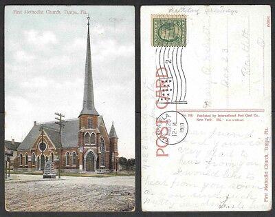 1910 Florida Postcard - Tampa - First Methodist Church