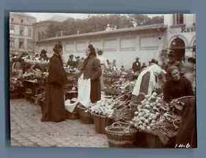 Germany-Koblenz-Scene-at-the-Market-Vintage-citrate-print-Vintage-Germany