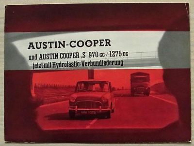 AUSTIN MINI COOPER & COOPER S Car Sales Brochure c1965 #2284-12.66 DUTCH TEXT