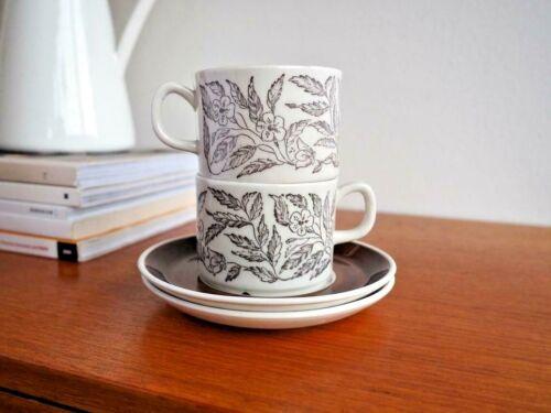 1970s PAIR Gefle Upsala Ekeby FONTANA Coffee Cups MCM Berit Ternell Sweden