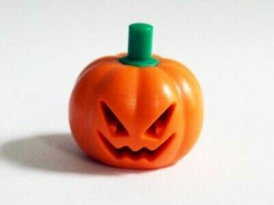 LEGO Minifigure Pumpkin Head gear Build A Fig Halloween Jack o lantern Orange