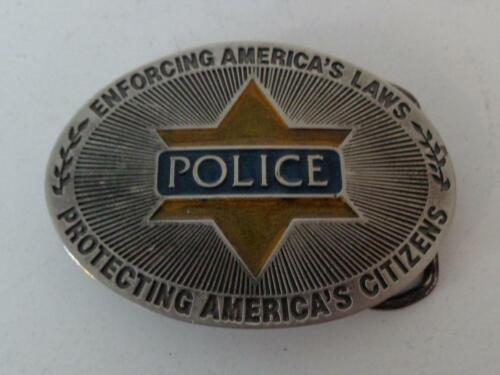 Vintage Police Officer Enforcing American Laws Protecting American Citizens Belt