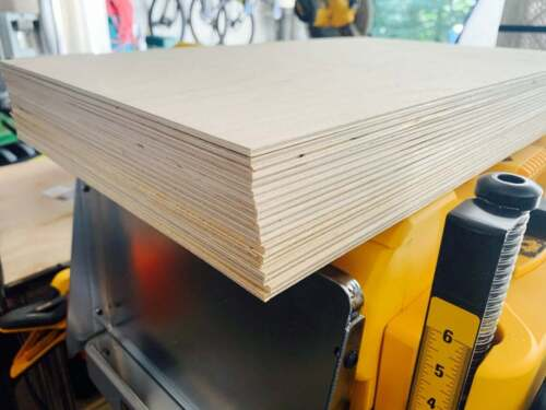 "23 Pack 3mm 1/8 x 12 x 20"" Premium Baltic Birch Plywood, GlowForge Grade BB Balt"