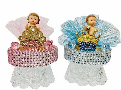 Baby Shower,Happy Birthday-Princess Girl, Prince Boy Cake Topper Choose Item