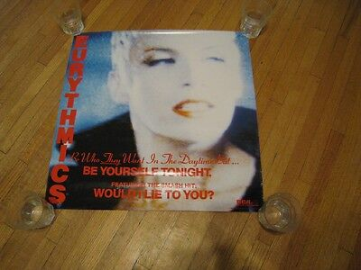 1985 VINTAGE EURYTHMICS ALBUM/SINGLE PROMO POSTER 22X22 XLNT