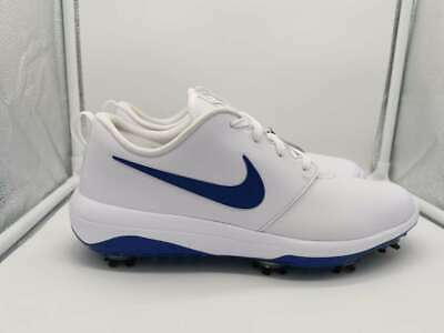 Nike Roshe G Tour UK 8 White Indigo Blue Force Golf Shoes AR5580-101