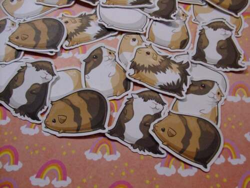 Sugar Blocks Sticker Flakes - Little Cute Guinea Pigs - Pet Animal Cute Kawaii