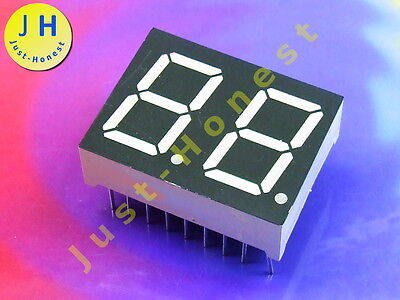 LED Anzeige 7-Segment Numeric Display 2 DIGIT Rot / Red  CA (Anode) #A1287