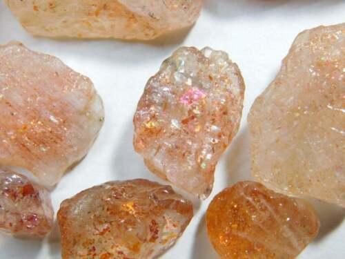 Natural Lattice Rainbow Sunstone Rough Loose Gemstone For Jewellery LOT-02