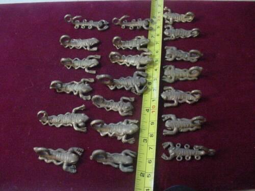 Vintage Wholesale Lot of 20 African Brass Scorpion Beads Pendant , Ashanti tribe