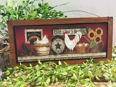 Farmhouse Kitchen Sign Rise And Shine Art Decor Country Rustic Wood Wall Hanging