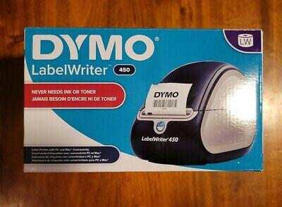 Dymo Labelwriter 450 Label Printer - Blacksilver. Very Lightly Used.
